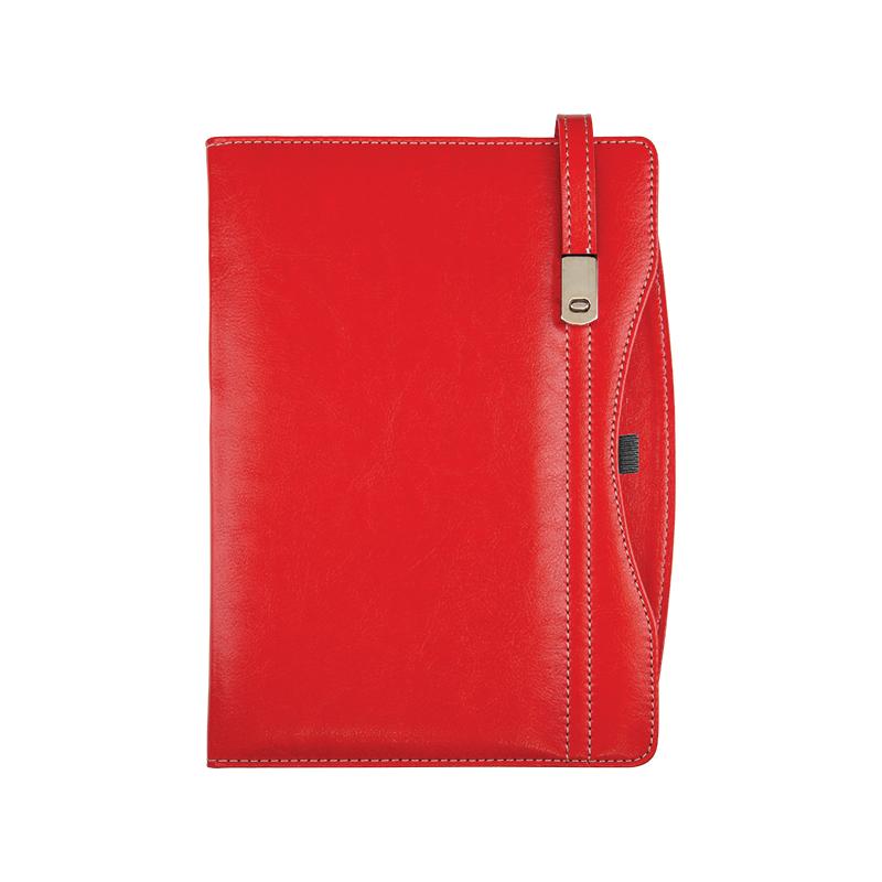 376 Kırmızı Termo Deri· Ajanda - Ebat: 17 x 24 cm